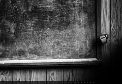 The Chalkboard (KellyShipp) Tags: the chalkboard vintage school oldschool laneburg high arkansas chalk board pencilsharpener abandoned south blackandwhite infrared education