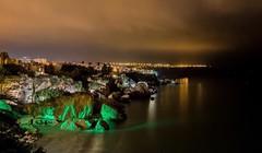 Nerja (Spain) (Antibetiks) Tags: rock roca acantilado mar agua lights iluminacion noche night playa españa spain nerja