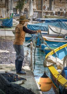 Fisherman in Marsaxlokk
