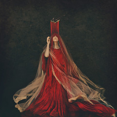 worship the sun (brookeshaden) Tags: brookeshaden fineartphotography darkart darkfairytale darkprincess redprincess redcandles conceptualphotography surrealfineart