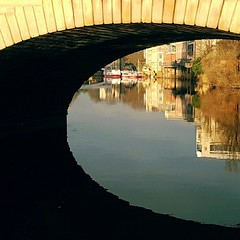 Eye-eye...!  Reflections on the River Ouse, York. (Powderpuff GP) Tags: history architecture shadow reflections river york ousebridge