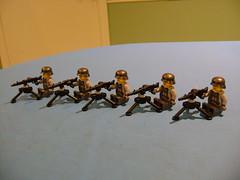 Machine gun army (tekmoc17) Tags: lego minifigure machine gun mg mg42 ww2 war brick custom moc