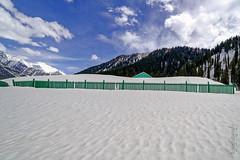 Fences & Snow ... (Bijanfotografy) Tags: nikon nikond800 zeiss zeiss15mm zeissdistagon15mm28 snow sonamarg kashmir jammukashmir jk india mountainside fences