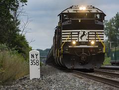 K636 - Perinton (ConnorShortPhotography) Tags: ns norfolk southern sd70acu sd70 rebuild emd csxrt csxt csx sd90 sd90mac 7306 rochestersubdivision rochester new york ny milepost milemarker wayneport ethanol k636 train railroad oil