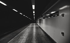Estación de Elche-Carrús (Iván.Gnell) Tags: estacion subterraneo tunel subway trainstation simetria symmetry dark oscuro oscuridad darkness photooftheday pickoftheday blancoynegro blackandwhite art arte artistica artistic estaciondetren españa spain blackandwhitephotography blackandwhitephoto nikon nikond3200 1870mm fotografia photography lights luces mystery misterio route ruta tunnel elche carrus