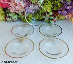 Antique Thomas Webb Crystal Plates Heavy Sterling Silver Overlay (Donna's Collectables) Tags: antique thomas webb crystal plates heavy sterling silver overlay