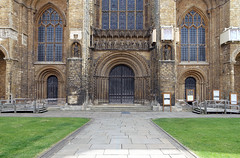 Lincoln Cathedral, west portals (center)