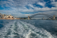 Greetings from Sydney (RichHaig) Tags: au sydneyoperahouse sydneyharbourbridge nikonafsnikkor2412014ged bridge sydneyharbor australia waves sky water richhaig sydney nikond800 clouds