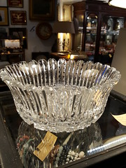 "Fluted cut crystal bowl, exceptional quality yet unsigned.  $165. • <a style=""font-size:0.8em;"" href=""http://www.flickr.com/photos/51721355@N02/35864511276/"" target=""_blank"">View on Flickr</a>"