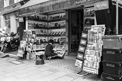 News Stand (g.armr) Tags: film filmphotography analog analogue 35mm monochrome bw blackandwhite leica leicaiiif leicaiii summaron summaron35 delta delta400 ilfosol ilfosol3 london street
