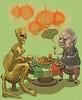 raggi (The Pencil Holder   Illustrations & Paintings) Tags: alienplanet michellepfeiffer pasolini edurardodefilippo samuelljackson painting syria burkini raggi aleppo quentinblake digital klimt green