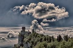 San Marino - Cloud (Antonio Martorella) Tags: antomarto ntomarto sanmarino torre tower torreguaita guaita nuvola clouds cloud panorama landscape hdr rocca sky