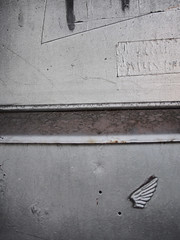 WingedVictory (Matthew Cumbie) Tags: wings victory silver marble found walk urban olympus 20mm