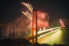 San Francisco Nights (Thomas Hawk) Tags: 75thbirthdaygoldengatebridge america batteryspencer california goldengatebridge marin marinheadlands sanfrancisco usa unitedstates unitedstatesofamerica bridge fireworks millvalley us fav10 fav25 fav50 fav100