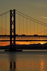 Forth Bridges Sunset (robert55012) Tags: forth queensferry scotland bridge sunset