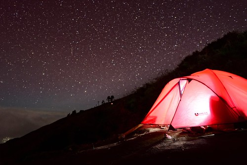 Million stars at Mount Rinjani