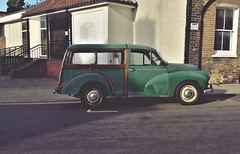 20170717_183726-02 (Bethel Street - Norwich - UK) (suzyhazelwood) Tags: cars vintage morristraveller morris car old samsung s4mini creativecommons streets streetphotography street smartphone norwich norfolk uk
