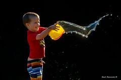 Splash mom (Earl Reinink) Tags: earl reinink earlreinink photography nikon 600mm pail water children grandson splash htuaeaidia