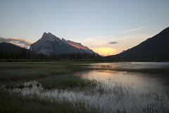 Mount Rundle at Sunset - Banff National Park - Alberta, Canada (helikesto-rec) Tags: mountrundle banff banffnationalpark vermillionlakes lake alberta canada