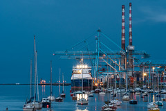 Dublin Port (Campbell, Paul) Tags: dublin port docks night sbb conventioncentre poolbeg lighthouse incinerator