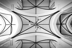 X (mathieuo1) Tags: hanoi vietnam cathedral church aisa architecture art old ancient panoramic wide wideangle blackandwhite black white lines symmetry symbol shape cross lamp light illumination strong travel discover explore urban city indoor le longexposure tripod hdr religion door ceiling geometry design monochrome nikon dslr mathieuo
