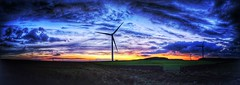 Hedleyhope (deadheaduk) Tags: hedleyhopefell towlaw countydurham weardale northeast nature naturereserve windmill sunset stitched panorama explore explored
