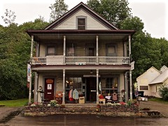 Country Clothing (Professor Bop) Tags: rural vermont waitsfieldvermont store building structure architecture olympuse5 professorbop drjazz rain rainyday summer secondhandstore photoshop cubaphotogallery americana