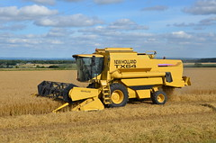 TX64 (sgreen757) Tags: tx tx64 64 combine harvester yellow harvest 2017 nikon d7000 rural agri agriculture field crop crops glos gloucestershire south hawkesbury upton new holland machine farm