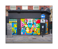 Street Art (Nylon, Pez, Malarky), East London, England. (Joseph O'Malley64) Tags: vinnienylon nylon pez malarky malarko streetartists streetart urbanart publicart freeart graffiti eastlondon eastend london england uk britain british greatbritain art artist artistry artwork murals muralists shutters rollershutters victorianbuilding victorianstructure stucco stuccowork brickwork bricksmortar cement pointing leadflashing signs signage signposts streetfurniture accesscovers pavement bollard granitekerbing speedtable tarmac doubleyellowlines noparkingatanytime parkingrestrictions urban urbanlandscape aerosol cans spray paint fujix x100t accuracyprecision graffflâneur pigeons