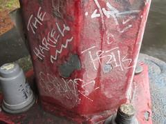 The Hartel - Trik DP (Railroad Rat) Tags: graffiti british columbia canada moniker street art nature forest