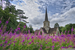 Holy Trinity Church (EVERY SO OFTEN) Tags: penn street chilterns buckinghamshire england landscape church wild flowers flora wood sony ilce6300 e1018mmoss outdoors july summer spire architecture rosebay willowherb fireweed