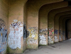 Under the Thanet Way. Appproaching Whitstable along the Crab and Winkle Way - archiving. (favmark1) Tags: 2017 365 day180 365challenge crabandwinkleway canterbury whitstable graffiti