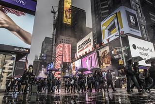 Times Square Umbrella Army (Explore)