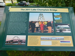2011 Lake Champlain Bridge Sign (jimmywayne) Tags: vermont addisoncounty chimneypoint lakechamplain bridge 2011 sign