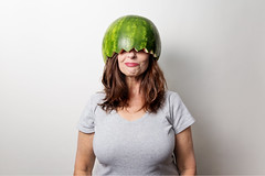 When you don't want to let a good prop go to waste... (~ cynthiak ~) Tags: 365 365days 3652017 2017 selfportrait 201365 img9508 copy onestrobe ourdailychallenge odc throwitawayicant watermelon watermelonhat