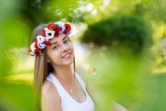 IMG_6963 (Galika_) Tags: teen girl long hair smile sunset sundown summer wreath flower portret memory natural naturallight white green canon 6d 85mm 8518 bulgaria