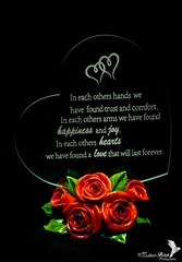 Love Is (Zaheer Baksh Photography) Tags: love heart glass item display poem object colors roses red green artificial zaheerbakshphotography zbp