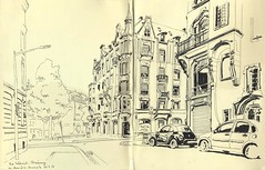 Rue Sellénick - Strasbourg (lolo wagner) Tags: unesco sketch croquis usk urbansketchers alsace strasbourg neustadt