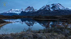 Blue Hour At Cordillera Paine (chasingthelight10) Tags: events photography travel landscapes forests countryside glacialvalley lakes mountains nature sunrise places chile lagonordenskjold