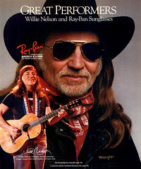 1988 Willie Nelson Ray-Ban sunglasses ad (Tom Simpson) Tags: 1988 willienelson rayban sunglasses ad 1980s cowboyhat countrymusic ads advertising advertisement vintage vintagead vintageads music musician