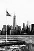 Patriotism (Benjamin Mongardini) Tags: photography photo photoshop photoshoplightroom landscape land america usa newyork newyorkcity bw blackandwhite blackwhite flag americanflag patriot patriotic ice buildings skyline skyscrapers flagpole