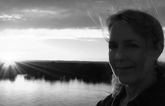 Jos (PuraVida Photo) Tags: portrait blackandwhite monchrome sunset canada stlawrenceriver quebec
