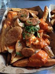 Jersey City: Würstbar - Chicken Masala Poutine (wallyg) Tags: chickenmasalapoutine foodporn jerseycity newjersey poutine restaurant würstbar wurstbar