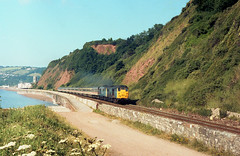 June 1989 (seawall) Tags: 31465 31405 class31 teignmouth