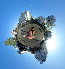 Seven Dials (Ashley Beavan) Tags: seven diales brighton hove uk 360 blue sky trees buildings little planet