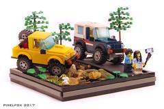 Suzuki Jimny 2nd Gen (Pixel Fox) Tags: lego suzuki sj410 jimny diorama offroad 4x4