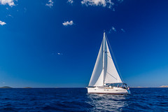 Lone Sailing Yacht in Adriatic Sea, Croatia (Wolfhowl) Tags: landscape relax sailing croatia sailboat sea luxury adriatic 2017 bbyachting travel sails yacht seascape yachting europe rest boats