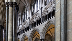 Salisbury Cathedral, nave gallery (profzucker) Tags: salisbury salisburycathedral earlyenglish gothic england architecture cathedral smarthistory medieval english