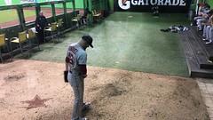 Craig Kimbrel warms up during #ASG (apardavila) Tags: craigkimbrel allstargame asg theclevelander marlinspark majorleaguebaseball mlb bullpen americanleague baseball sports