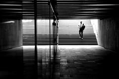 (marcinsufleta) Tags: wroclaw walk window bw underground stairs men street photography monochrome